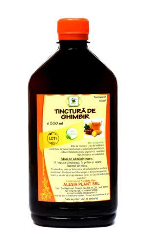 Tinctura de Ghimbir remediu naturist pentru procesul de digestie. 500 ml