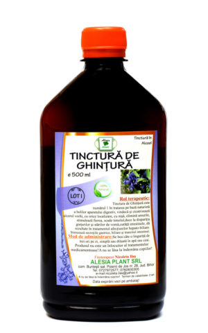 Tinctura de Ghintura 500 ml. Remediu naturist adjuvant al sistemului digestiv.